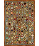 RugStudio presents Dash and Albert Cat's Paw Brown Hand-Hooked Area Rug